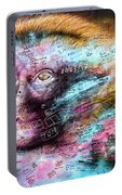 Belfast Mural - Monkey Face - Ireland Portable Battery Charger