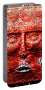 Belfast Wall - Red Face - Ireland Portable Battery Charger