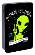 Believe In Aliens Gift Portable Battery Charger