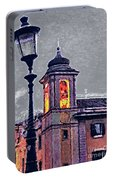 Bell Tower Of Rome Portable Battery Charger