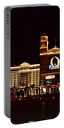 Bellagio And Caesar's Palace In Las Vegas-nevada Portable Battery Charger