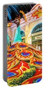 Bellagio Conservatory Fall Peacock Display Side View Wide 2 To 1 Ratio Portable Battery Charger