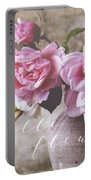 Belle Fleur Pink Peonies Portable Battery Charger