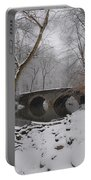 Bells Mill Bridge On A Snowy Day Portable Battery Charger