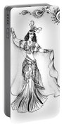 Belly Dancer With Veil. Friend Of Ameynra Portable Battery Charger