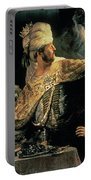 Belshazzars Feast Portable Battery Charger by Rembrandt