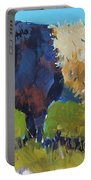Belted Galloway Cow - The Blue Beltie Portable Battery Charger
