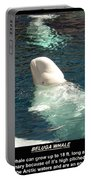 Beluga Whale Poster Portable Battery Charger
