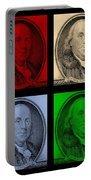 Ben Franklin In Colors Portable Battery Charger