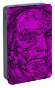 Ben In Wood Purple Portable Battery Charger