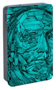 Ben In Wood Turquoise Portable Battery Charger