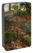 Bench In Fall Portable Battery Charger