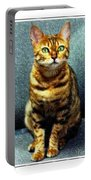 Bengal Cat Digital Oil Pastel Portable Battery Charger