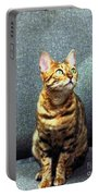 Bengal Cat Oil Pastel  Portable Battery Charger