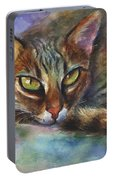 Bengal Cat Watercolor Art Painting Portable Battery Charger