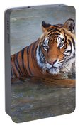Bengal Tiger Laying Water Portable Battery Charger