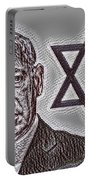 Benjamin Netanyahu With Star Of David Portable Battery Charger