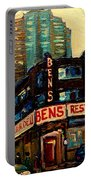 Bens Restaurant Deli Portable Battery Charger by Carole Spandau