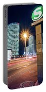 Berlin - Potsdamer Platz Square At Night Portable Battery Charger