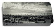 Berlin Skyline And Roofscape -black And White Portable Battery Charger