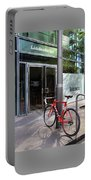 Berlin Street View With Red Bike Portable Battery Charger