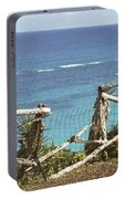 Bermuda Fence And Ocean Overlook Portable Battery Charger