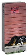 Bernese Mountain Dog Alertly Guarding Home. Portable Battery Charger