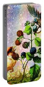 Berries And Birds Portable Battery Charger