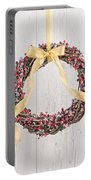 Berry Decorated Wreath Portable Battery Charger