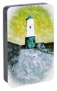 Berwick Lighthouse As Graphic Art. Portable Battery Charger