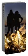 Besties At Sunset Portable Battery Charger