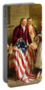 Betsy Ross And General George Washington Portable Battery Charger