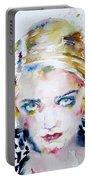 Bette Davis - Watercolor Portrait Portable Battery Charger