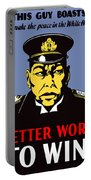Better Work To Win - Ww2 Portable Battery Charger