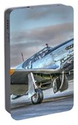 Betty Jane P51d Mustang At Livermore Portable Battery Charger