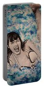 Betty Page Portable Battery Charger