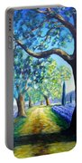 Between The Lavender Fields Portable Battery Charger