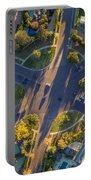 Beverly Hills Streets, Aerial View Portable Battery Charger