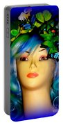 Beverlys Blue Butterflys Portable Battery Charger