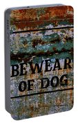 Bewear Of Dog Portable Battery Charger