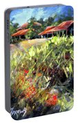 Beyond The Red Flowers Portable Battery Charger
