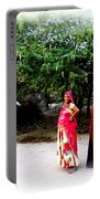 Bff Best Friends Pregnant Women Portrait Village Indian Rajasthani 1 Portable Battery Charger