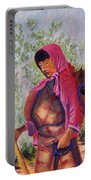 Bhutan Series - Woman With The Horse Portable Battery Charger