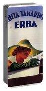 Bibita Tamarindo - Erba - Vintage Drink Advertising Poster Portable Battery Charger