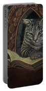 Bibliocat Reads To His Friends Portable Battery Charger
