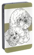Bichon Frise And Pup Portable Battery Charger