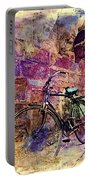 Bicycle Abandoned In India Rajasthan Blue City 1a Portable Battery Charger