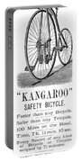 Bicycle Ad, 1885 Portable Battery Charger