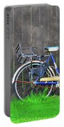 Bicycle And Gray Fence Portable Battery Charger