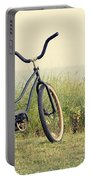 Bicycle On Beach Summer's On The Coast Portable Battery Charger